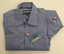 New w Tags AUTHENTIC Vilebrequin Long Sleeve Cotton Blue Shirt for Men Size S