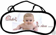 Masque de sommeil cache yeux  anti lumière bébé personnalisable REF 69