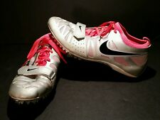 Nike Zoom Celar Track Field Shoes 456816 006 Womens Size 10 Gray Black Pink