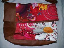 Desigual flowers floral red pink color nice mint shoulder bag