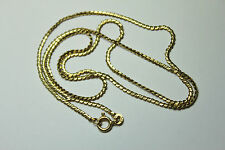 "BEAUTIFUL SOLID 18K GOLD SERPENTINE CHAIN NECKLACE 24-1/2"" long UNO AR smooth"