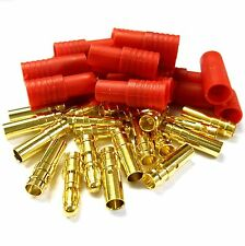 C0113 RC 3.5mm Gold Connector with Protector Housing Red x 10 Male / Female