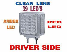 39 LED Double Face Turn Signal (L/H) Amber/Red w/Clear Lenses SEMI-TRUCK FENDER