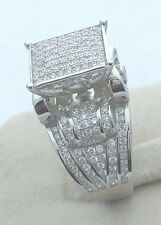Women Real 925 Sterling Silver Cubic CZ Promise Cocktail Ring WAITING ON SHIPMEN