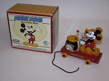 Mickey Mouse LE # 14165 Watch & Collectible Wood Toy Drum Train Fossil NIB