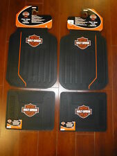 Harley-Davidson Elite Front and Rear Car Truck Rubber Floor Mats Set NEW