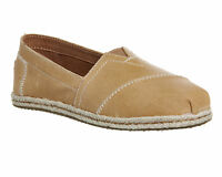 Womens Toms Seasonal Classic Slip On SANDSTORM VACHETTA LEATHER Flats