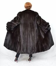 US83 Saga Mink fur coat jacket FULL LENGTH manteau de vison Nerzmantel ca. 2XL
