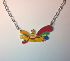 BEATLES YELLOW SUBMARINE PENDANT CHARM NECKLACE
