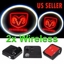 2X Wireless LED Courtesy Door Step Laser Welcome Ghost Shadow Lights for DODGE
