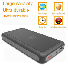 20000mAh Portable 2-USB Battery Charger LCD Mobile Power Bank For phone Samsung