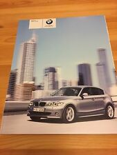 BMW 1 Series E87 Early Launch UK Car Sales Brochure, 2004, Collectors Item