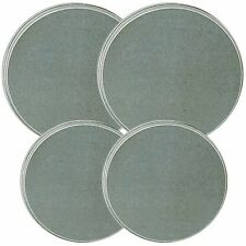 Reston Lloyd Electric Stove Burner Covers, Set of 4, Stainless Steel Look NEW