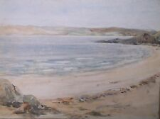 WATERCOLOUR PAINTING A STUDY OF A BEACH VIEW IN SCOTLAND