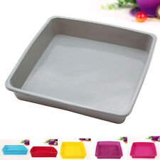 BIG Square Cake Pan Bread Chocolate Pizza Baking Tray Silicon Mold (8.5''x1.6'')