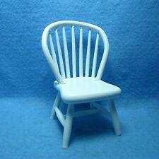 Dollhouse Miniature Kitchen / Dining Room Windsor Chair in White ~ CLA07814