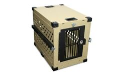 Foldable Collapsible Aluminum Dog Crate Medium