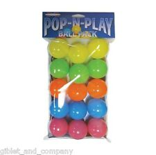POP-N-PLAY 15 BALLS PACK - Ferret Ball Pit Bright Plastic Cat Ping Pong Kids