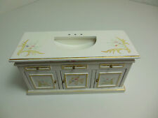 Dollhouse Miniatures Furniture1/12: 1139bwt  Vanity Sink (Fixtures Not Included)