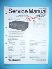 Service MANUAL PER TECHNICS rs-x901 cassette deck, ORIGINALE