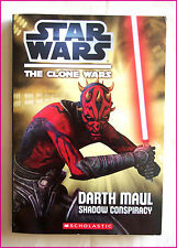 STAR WARS CHAPTER BOOK The Clone Wars - DARTH MAUL Shadow Conspiracy - 184pg NEW