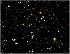 "Poster Print: 18"" x 24"" Borderless: Hubble Ultra Deep Field: Farthest Known View"
