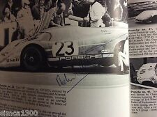PORSCHES AT LE MANS RICHARD ATTWOOD Signed LE MANS WINNER  JEFF MAY