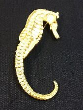 NEW Gold Plated Seahorse Pin from Marie de Masi