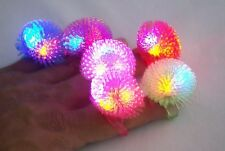 24 pcs Blinking Fluffy Soft Spike Ring with Multicolor LEDs Light up Gift Toys