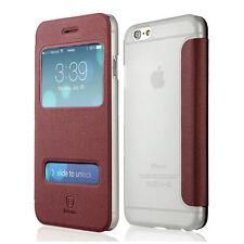 Handy Tasche rot für Apple iPhone 6/6s Schutz Hülle Flip Case Cover Etui Bumper