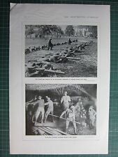 1917 WWI WW1 PRINT ~ LEWIS-GUN BATTERY AUSTRALIAN REGIMENT ~ WORKING GAS ATTACK