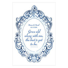 Vintage Romance Open Format Personalized Directional Poster Wedding Decoration