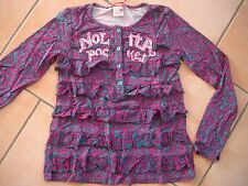 (259) Nolita Pocket Girls langarm Shirt A-Form + Logo Stickerei & Volants gr.164