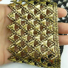 1 Meter Crafts/Costume/Sewing Venise Guipure Embroidered Trim Metallic Gold Lace