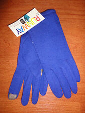 * Small S Womens Periwinkle RUNWAY echo Touch Screen Gloves I-phone Wool Blend
