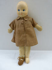 """Very Old Stockinette Liittle Brownie Doll 14"""" Needs Wig Circa 1930's"""