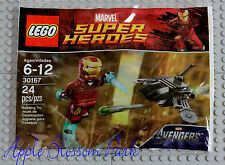 NEW Lego Avengers IRON MAN MINIFIG - Marvel Super Hero Minifigure w/Helmet 30167