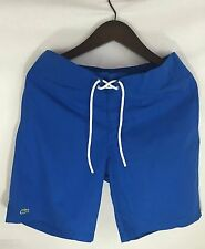 New LACOSTE Blue Cotton/Nylon Blend Men's Swim Board Shorts Size M Free Shipping