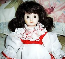 """14"""" Collectible LITTLE RED RIDING HOOD Wind Up Musical Doll Plays Big Bad Wolf"""