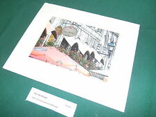 """PLACE ROYALE"" Montreal Quebec Print Etching  ~  2007 Signed VIAZANKO #7 of 250"