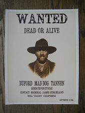 """Back to the Future - Buford 'Mad Dog' Tannen Wanted Poster      8"""" x 10.5"""""""