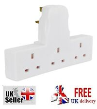 3 WAY TRIPLE SOCKET PLUG ADAPTOR SPLITTER 13A UK MAINS ADAPTER CONFORMS BS1363/3