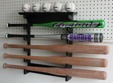 5 Baseball Bat Display Rack Hanger Holder, Alternative to Display Case, B17-BLA