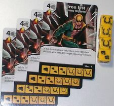 4 X IRON FIST LIVING WEAPON 43/142 Civil War Dice Masters
