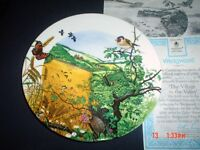 The Village In The Valley Collectors Plate Wedgwood With Certificate