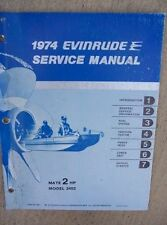 1974 Evinrude Outboard Motor Service Manual 2 HP Mate Model 2402 Boat L