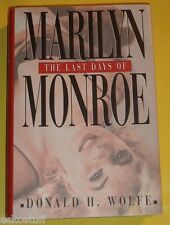 The Last Days of Marilyn Monroe 1998 Biography Great Photos! Nice See!