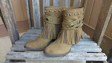 Sbicca Vintage Collection Leather Suede Women's Cowgirl Cowboy Boots Size 8 1/2