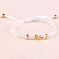 Titanium Steel Bear Braided Nylon Card Bracelet Fashion Bangle Rope Stylish Gift