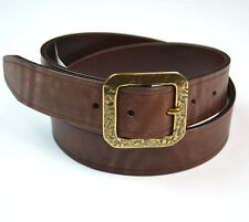 $225 NWT JOHN VARVATOS Collection Italian Genuine Leather Chocolate Belt Sz 36